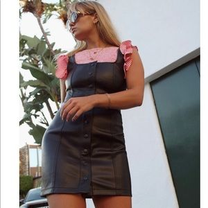 Urban Outfitters Faux Leather Button Dress